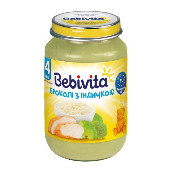 Bebibita Бебешко пюре /броколи с пуешко месо/ 190гр.